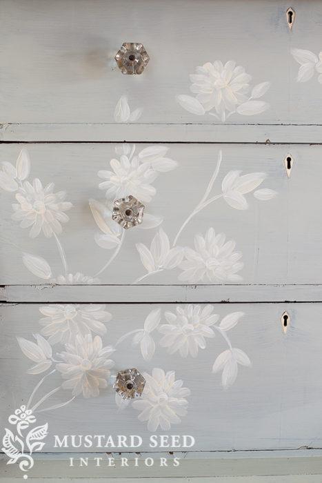 hand painted mora dresser | miss mustard seed