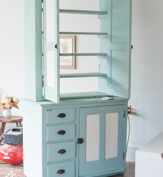 step-back cupboard in progress