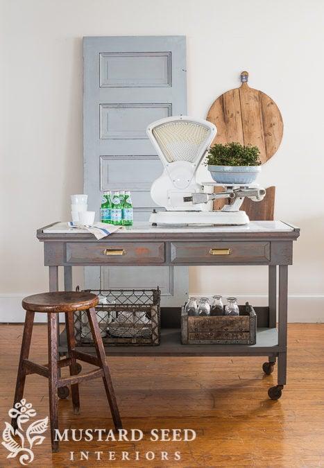 workbench turned kitchen island