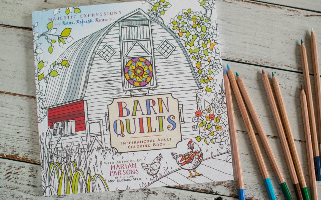 barn quilt coloring book & art journaling