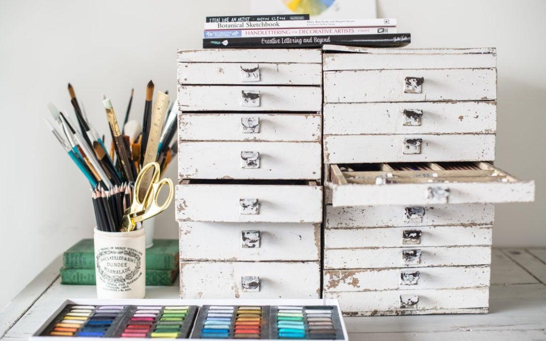 a million tiny drawers