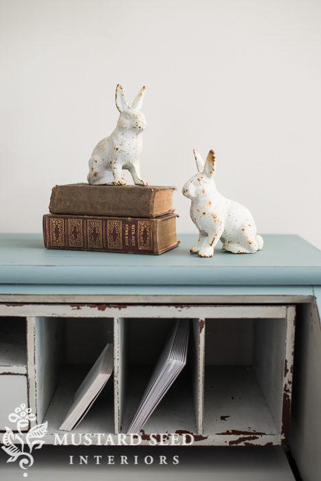 cast iron bunnies | miss mustard seed