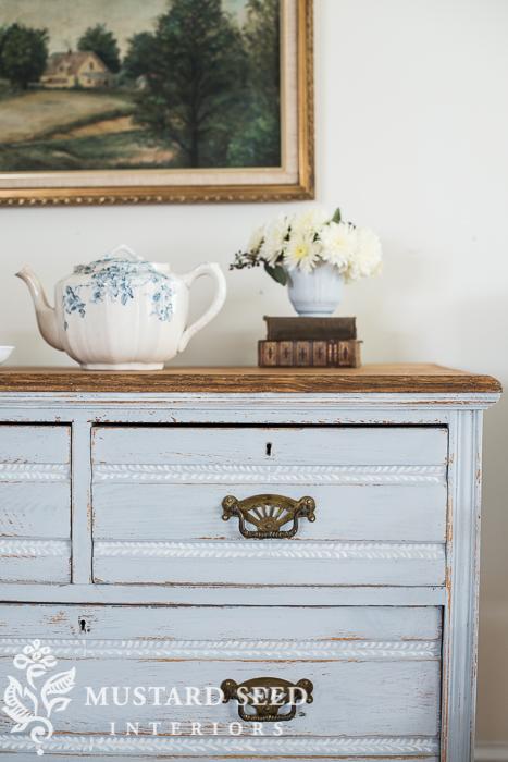 milk painted cottage dresser | miss mustard seed
