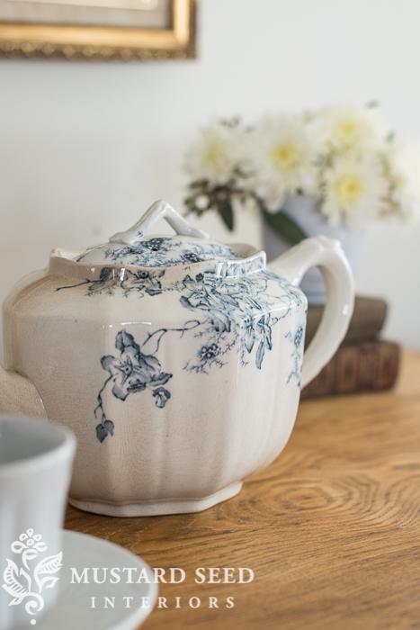 ironstone teapot | miss mustard seed