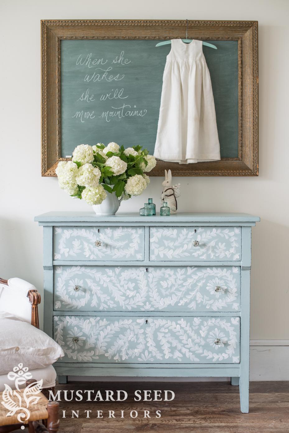 hand painted robin\'s egg blue dresser - Miss Mustard Seed