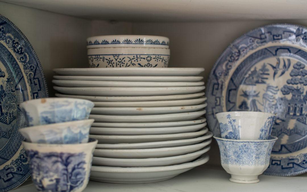 146 ironstone plates