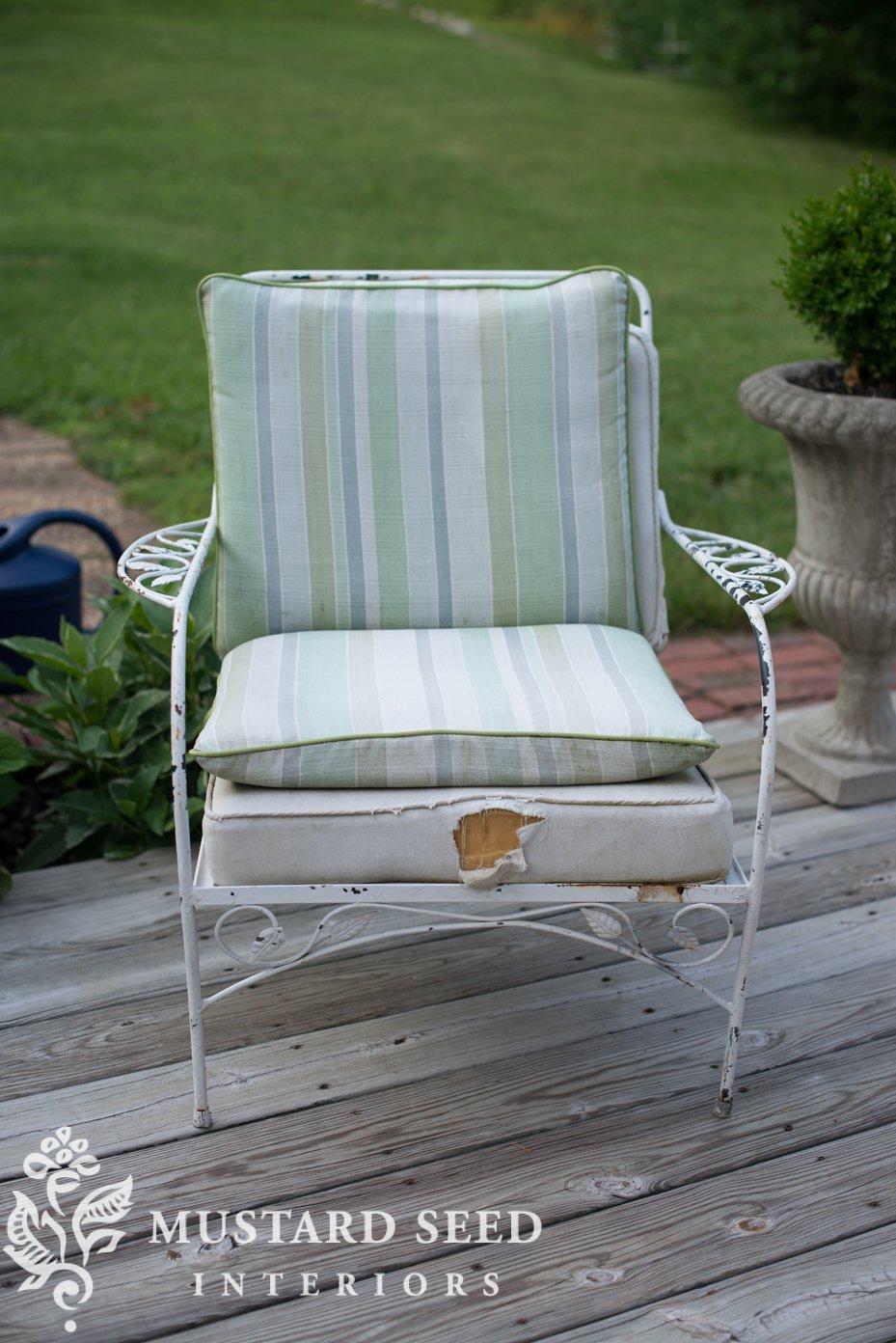 How To Make A Chair Cushion Deck Chair Makeover