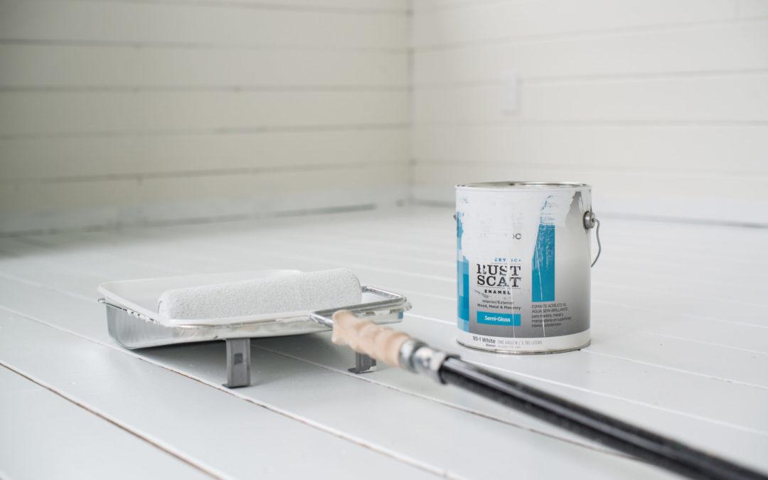 Painting the Studio Floor