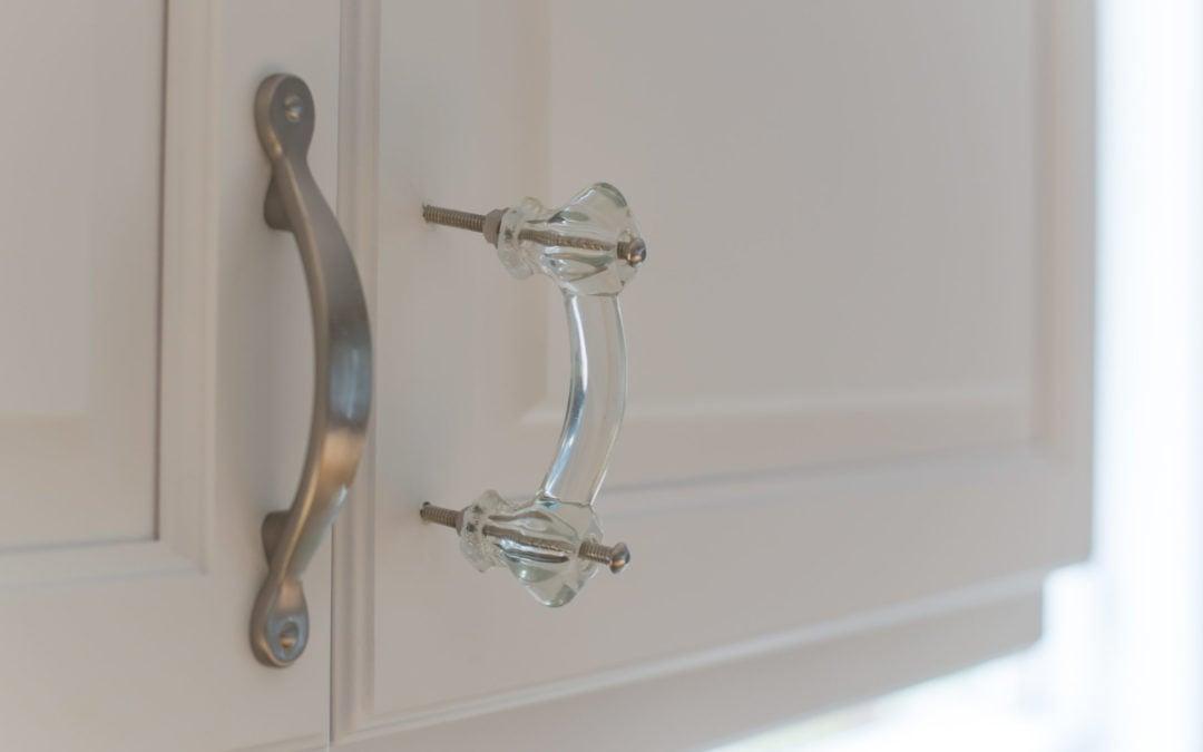 trim for days, grays doors & glass knobs