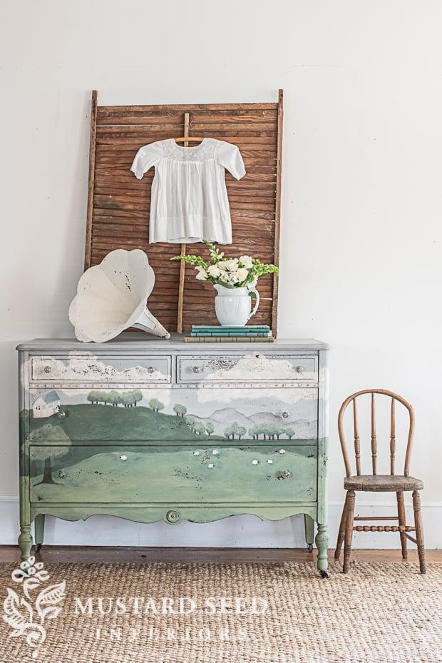 pintar un mueble encerado