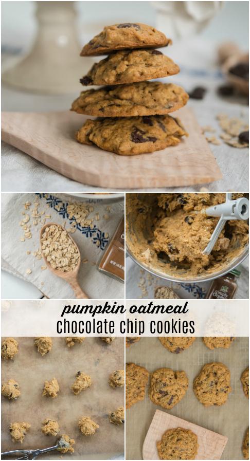 Pumpkin Oatmeal Chocolate Chip Cookies | Fall Desserts | missmustardseed.com